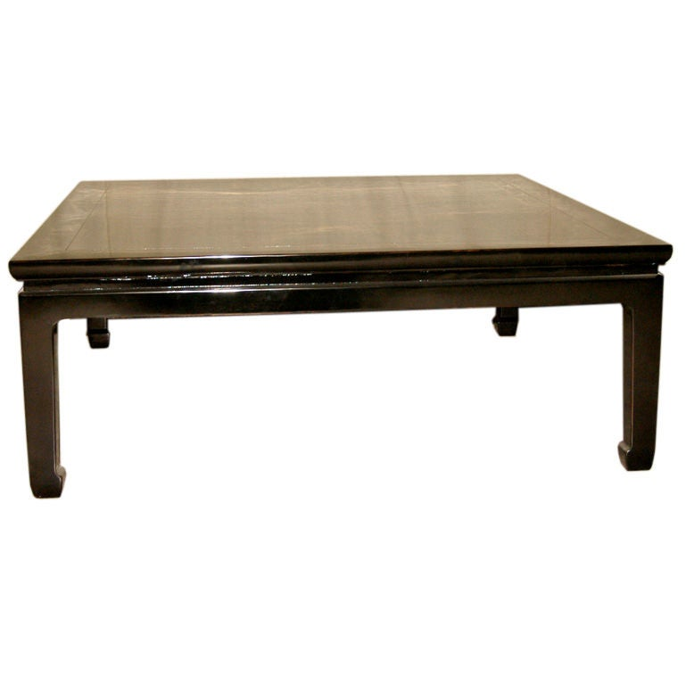 Square Black Lacquer Low Table At 1stdibs