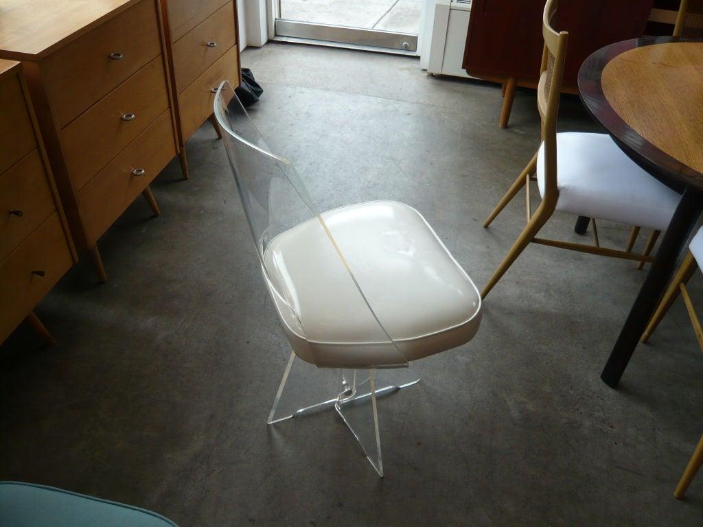 1970 s lucite swivel desk chair at 1stdibs