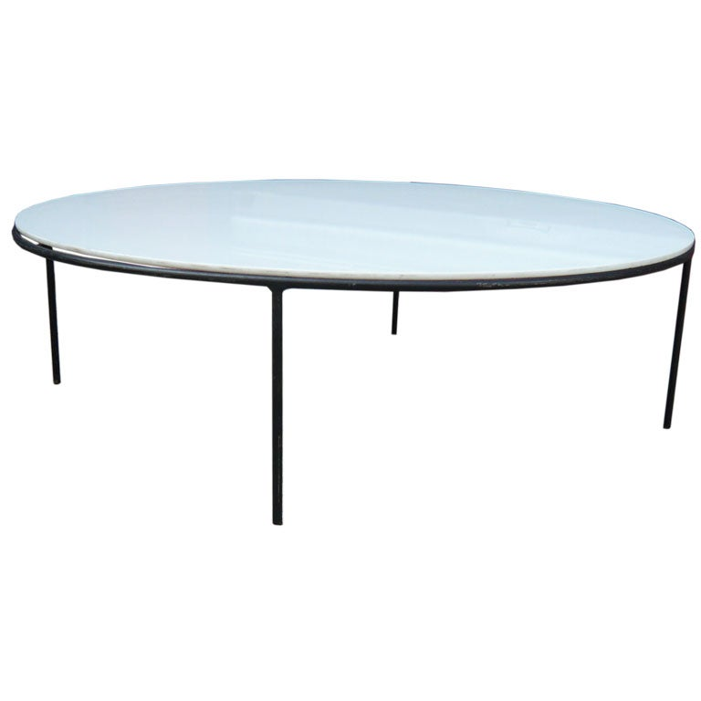 Https Www 1stdibs Com Furniture Tables Coffee Tables Cocktail Tables Paul Mccobb Milk Glass Coffee Table On Iron Base Id F 226078