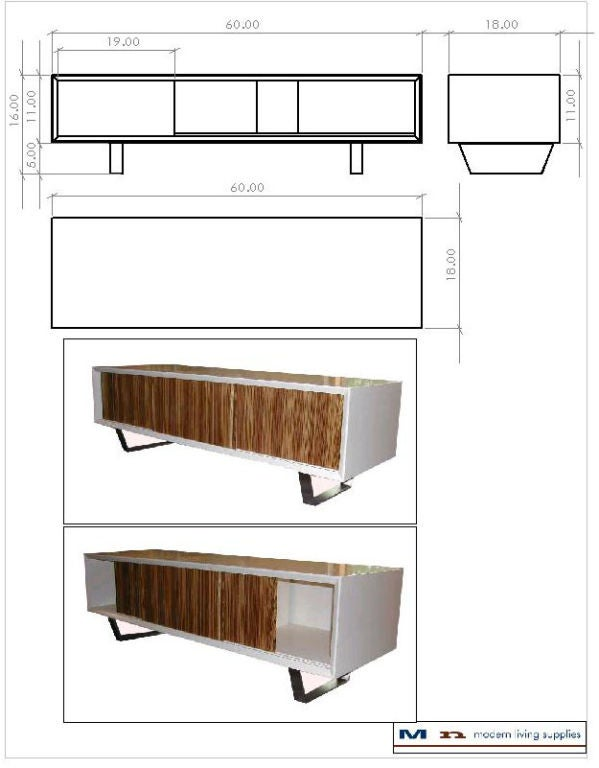 Yoon Sliding Door Console For Sale At 1stdibs