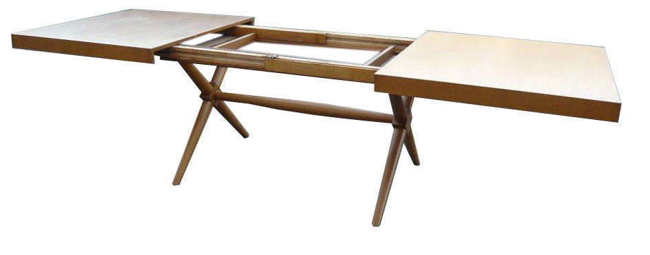 Robsjohn Gibbings X Base Dining Table At 1stdibs