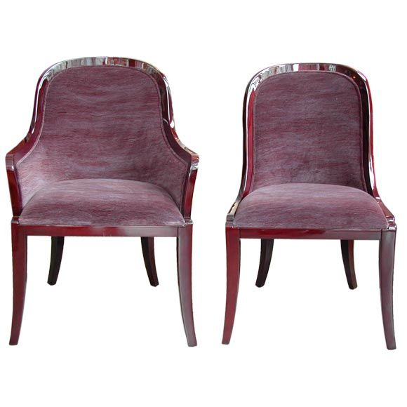 Regina dining chairs at stdibs
