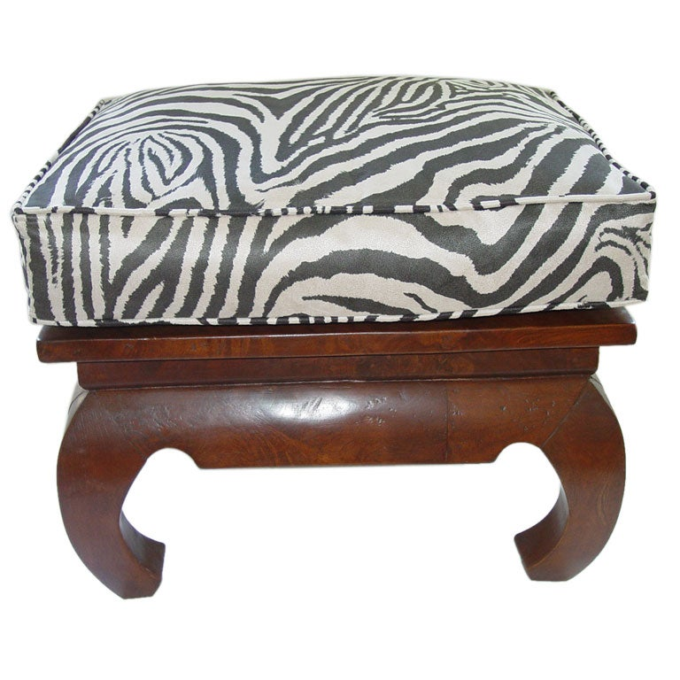 Chic Chinese Chippendale Stool Pouf Baker At 1stdibs