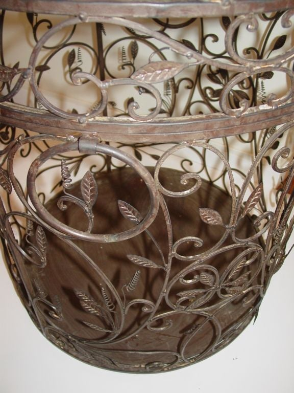 Large decorative Hand Wrought Bird Cage at 1stdibs