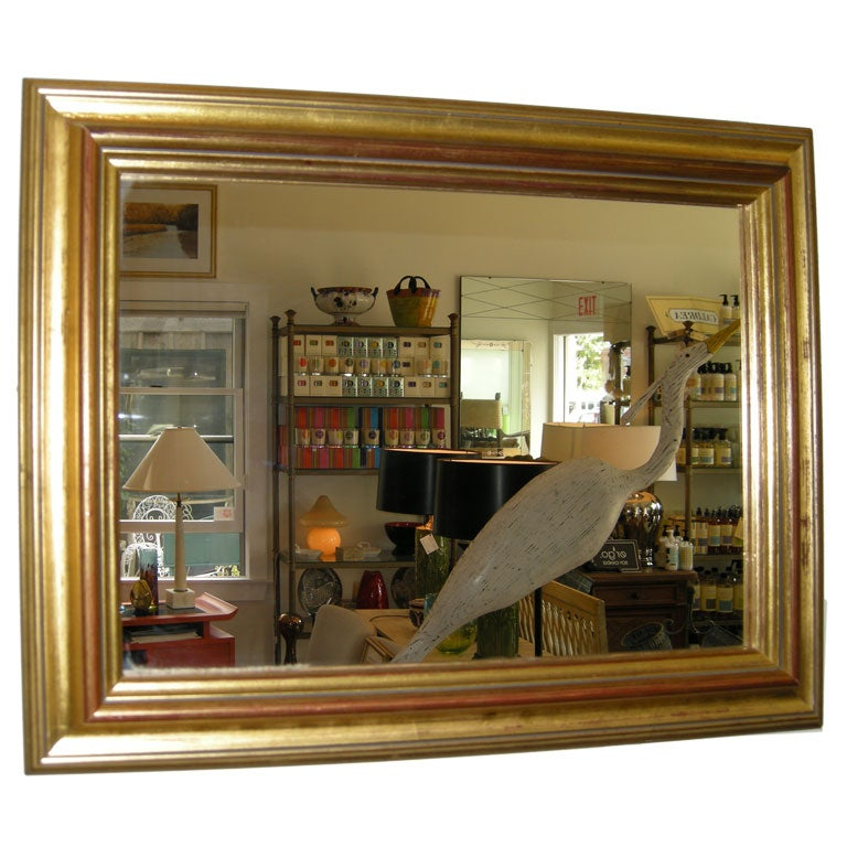 Pair,English 1920s Gold Leaf Mirrors