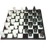 Black/White Onyx Chess Set