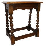 Antique English Tavern Stool / End Table