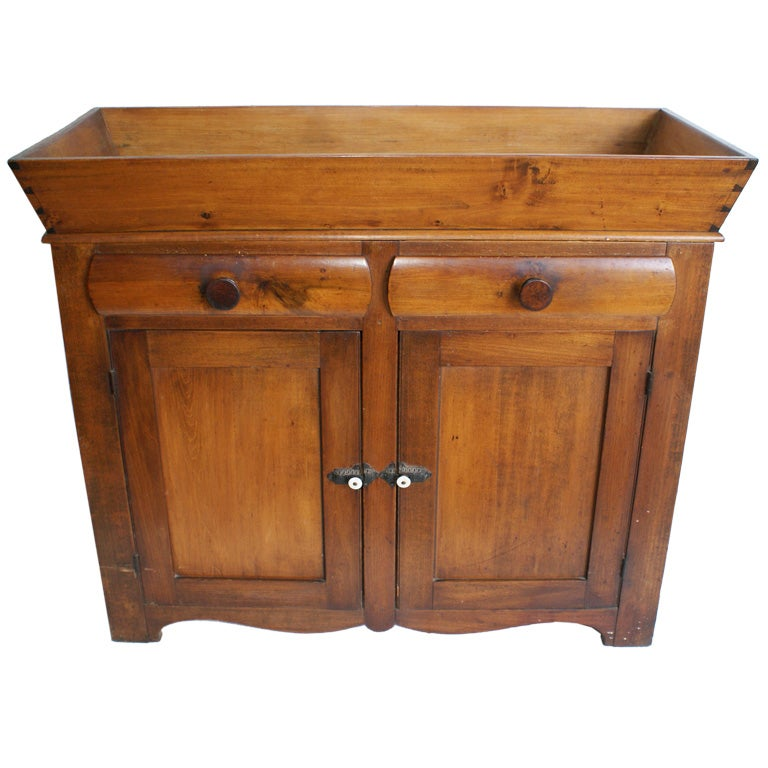 Antique American Pine Dry Sink/Cabinet 1 - Antique American Pine Dry Sink/Cabinet At 1stdibs