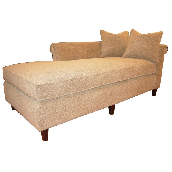 Luxurious pair of 1950s baker chaise lounge sofa at 1stdibs for 1950s chaise lounge