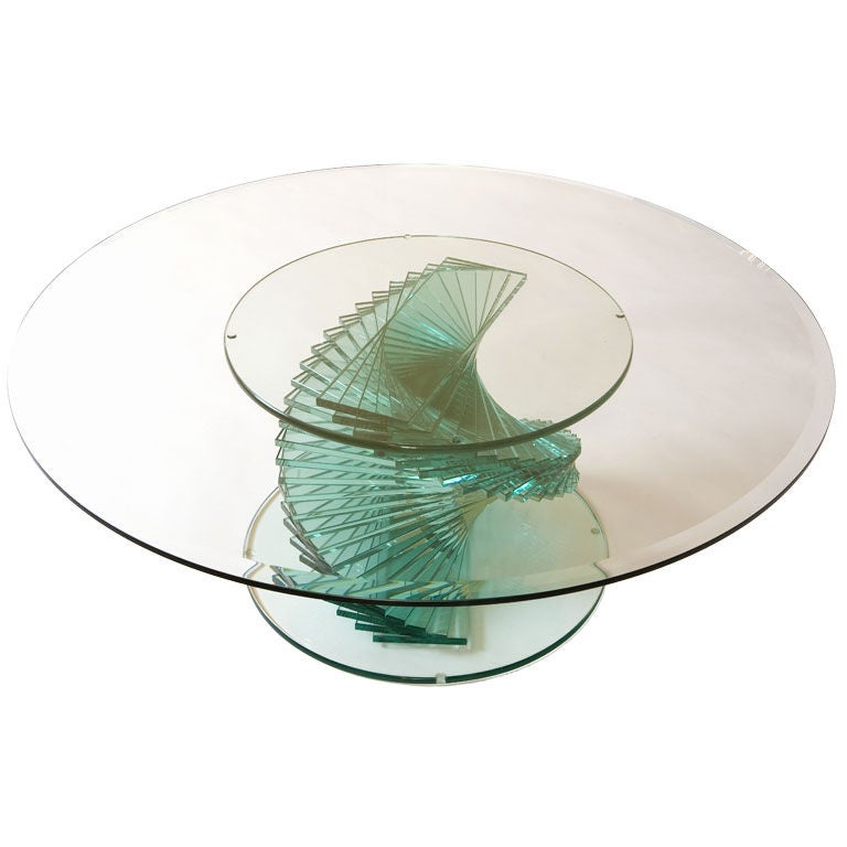 A Remarkable All Glass Mid Century Coffee Table At 1stdibs