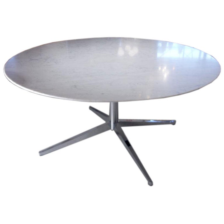 Large Knoll Marble Top Dining or Conference Table at 1stdibs