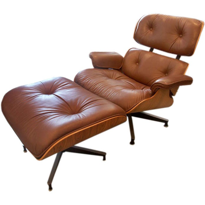 Charles and Ray Eames Lounge Chair and Ottoman at 1stdibs
