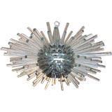 Dramatic Swiss Glass Rod Starburst Chandelier