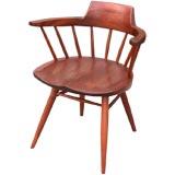 Set of 8 George Nakashima Captain's Chairs in Black Walnut