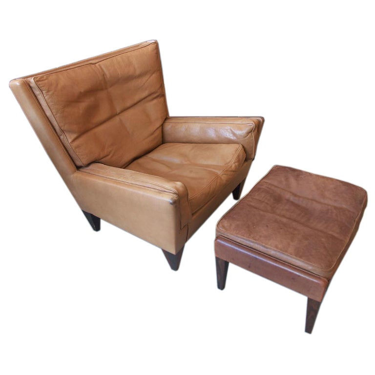 Illum Wikkelso Lounge Chair and Ottoman at 1stdibs