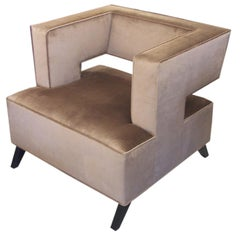 """""""Cubist"""" Lounge Chair by Lost City Arts"""