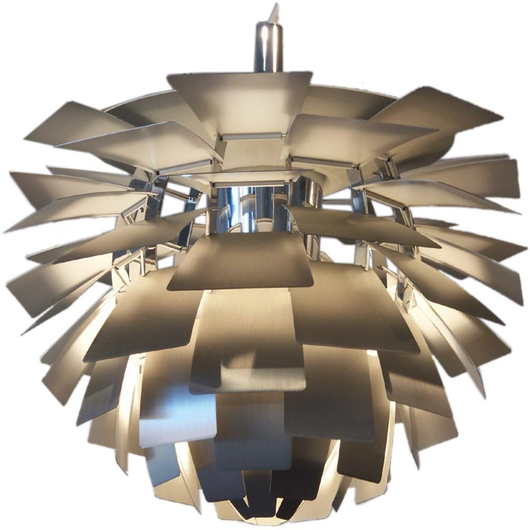 poul henningsen stainless steel artichoke lamp small. Black Bedroom Furniture Sets. Home Design Ideas