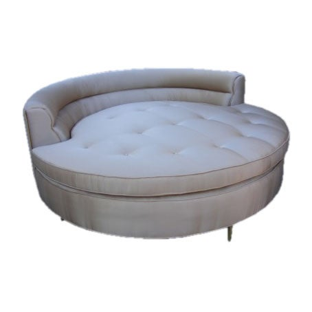 Harvey Probber - Round Chaise by Harvey Probber :  modern decor modern contemporary furniture interior satin
