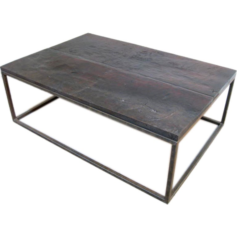 Walnut And Iron Coffee Table At 1stdibs