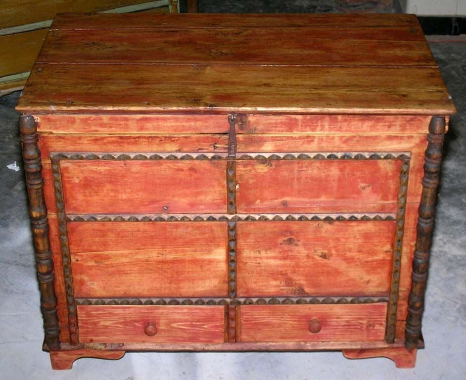 Baltic Hope Chest, Blanket Box, Dowry Chest with Drawers For Sale