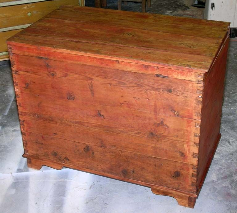 19th Century Hope Chest, Blanket Box, Dowry Chest with Drawers For Sale
