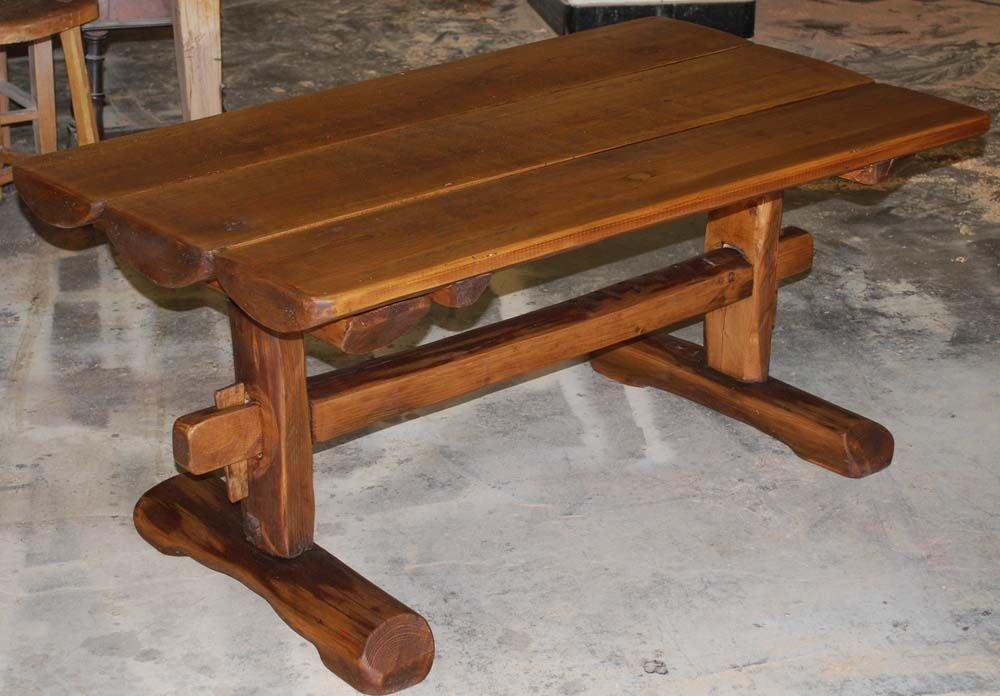 Primitive Coffee Table Side Table From Reclaimed Antique Wood At 1stdibs