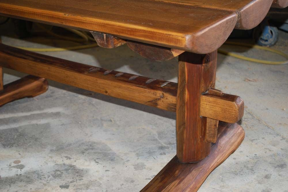Primitive Coffee Table Side Table From Reclaimed Antique Wood For