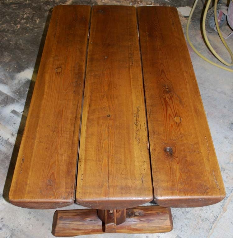 Primitive coffee table side from reclaimed antique