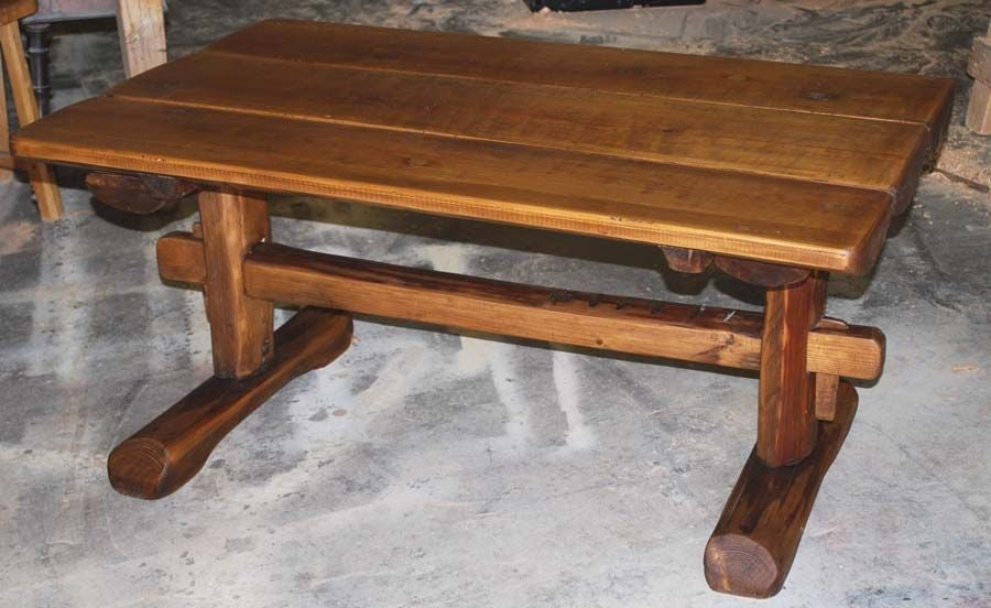 Primitive Coffee Table Side Table from Reclaimed Antique