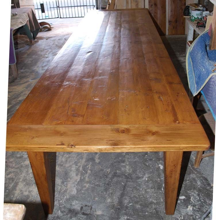 Harvest Table Made From Reclaimed Antique Pine Expandable