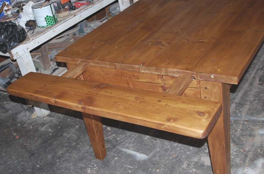 Harvest Table Made From Reclaimed Antique Pine Expandable At 1stdibs