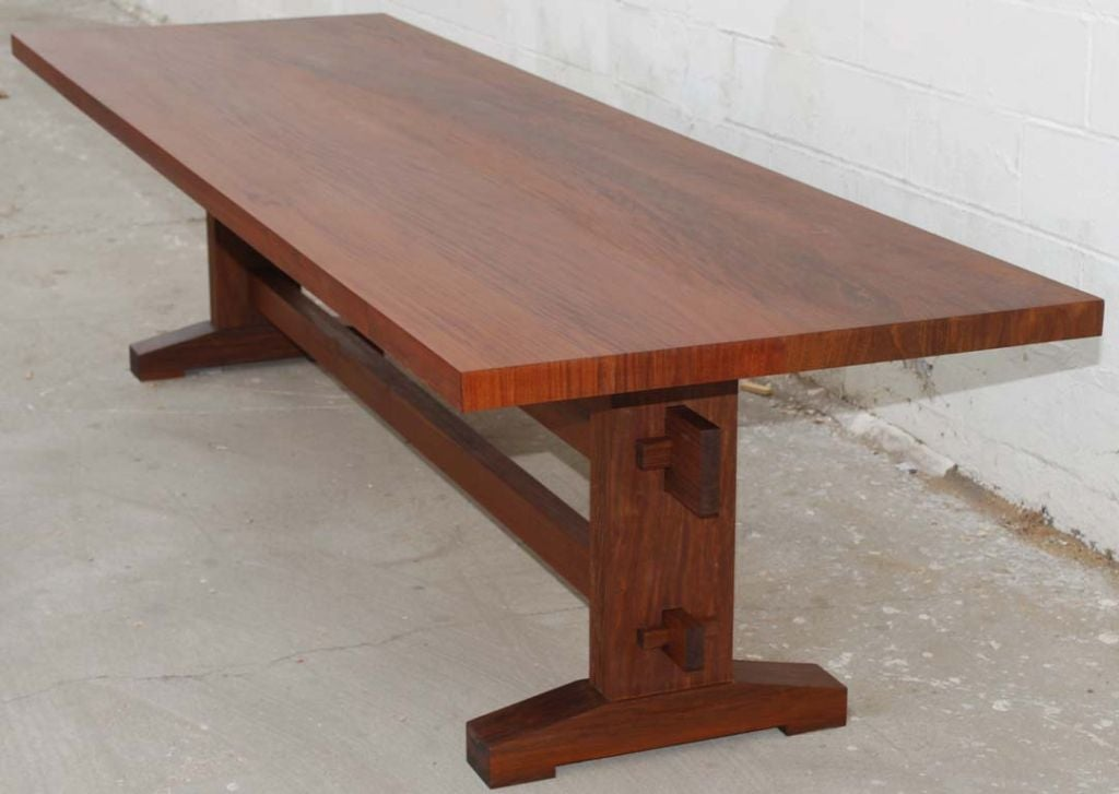 Outdoor Dining Table with Style In Weatherproof Solid Ipe  : tt6a from 1stdibs.com size 1024 x 727 jpeg 67kB