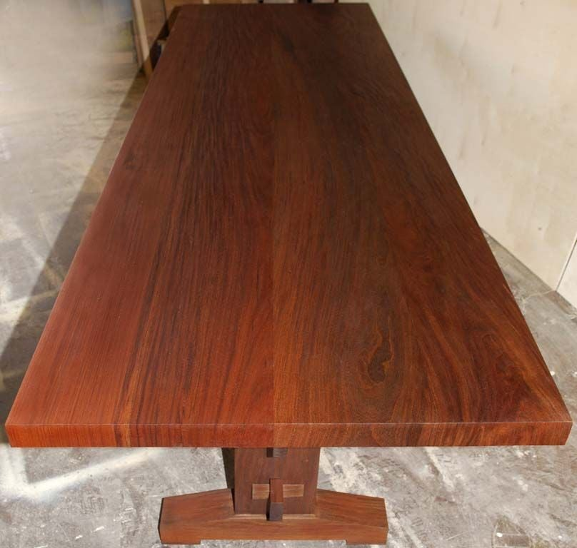 Dining Table With Style In Weatherproof Solid Ipe 39 Wood At 1stdibs