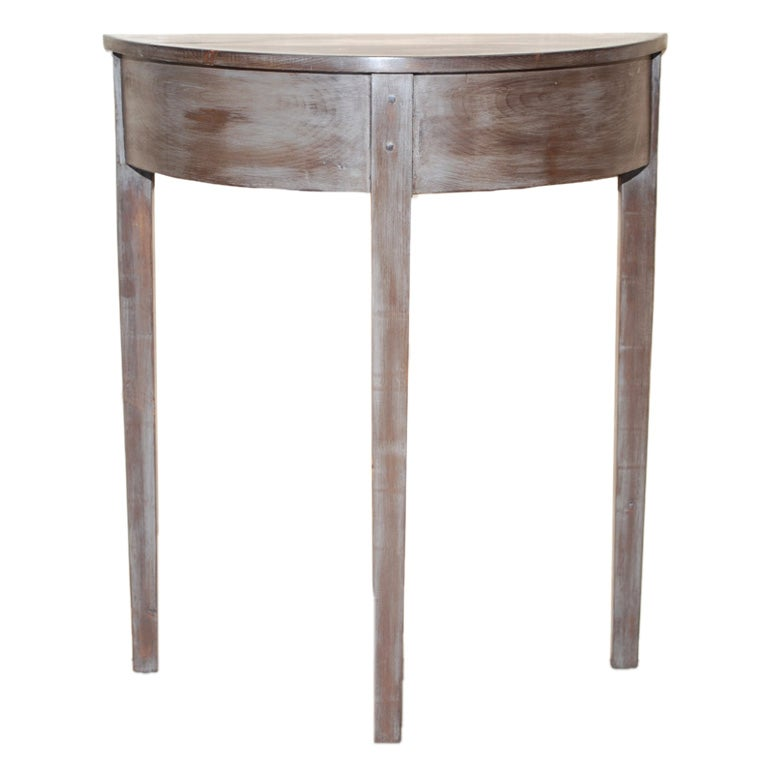demi lune console table from reclaimed wood at 1stdibs. Black Bedroom Furniture Sets. Home Design Ideas