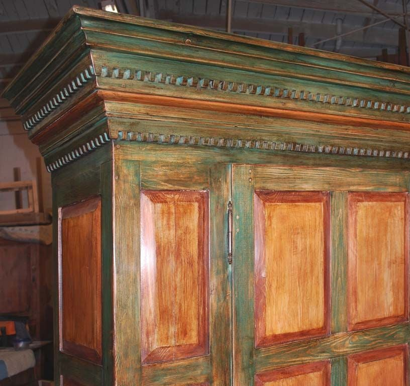 Large Painted Armoire In Excellent Condition For Sale In Los Angeles, CA