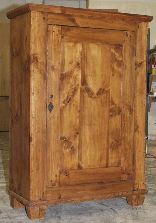 Swedish Rustic Cupboard / Single Door Armoire For Sale