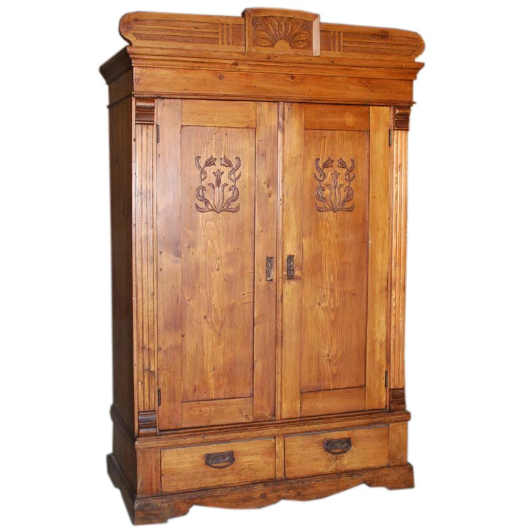 art nouveau armoire at 1stdibs. Black Bedroom Furniture Sets. Home Design Ideas