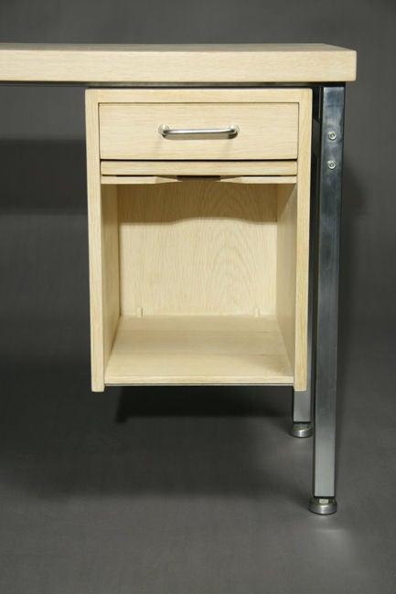 Mid-20th Century Small Bleached Oak Desk by Hans Wegner For Sale