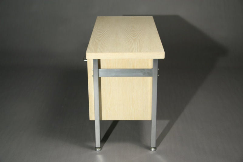 Small Bleached Oak Desk by Hans Wegner For Sale 1