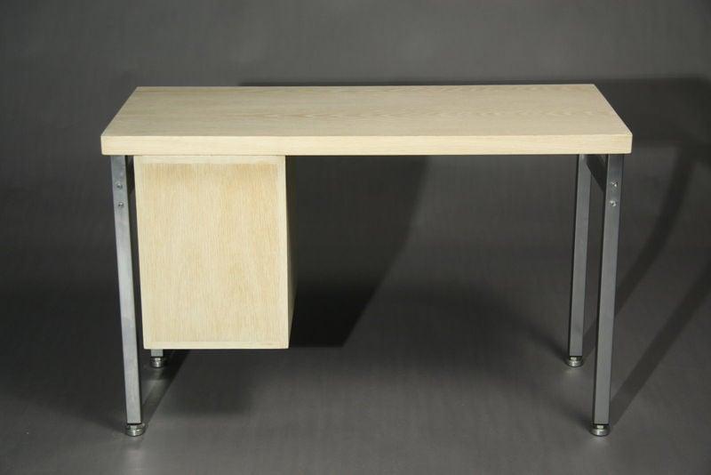 Small Bleached Oak Desk by Hans Wegner For Sale 2