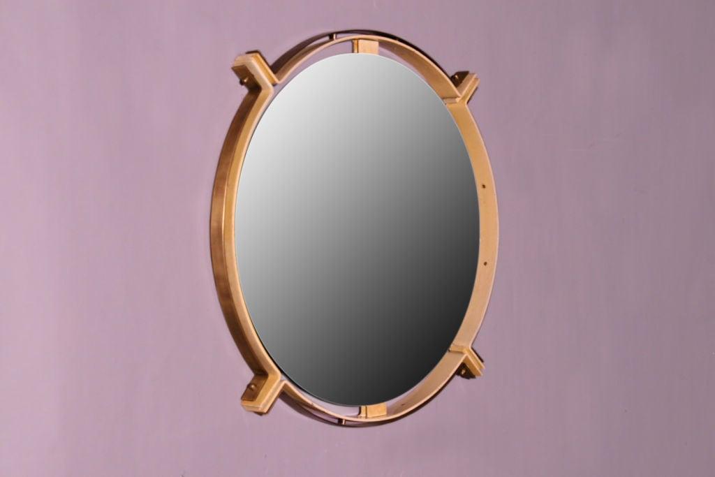 Bronze And Metal Nautical Mirror At 1stdibs
