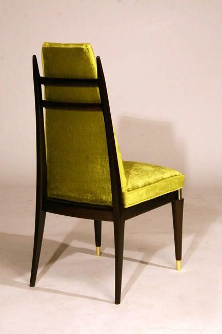 set of 10 custom green velvet dining chairs by monteverdi young at 1stdibs. Black Bedroom Furniture Sets. Home Design Ideas