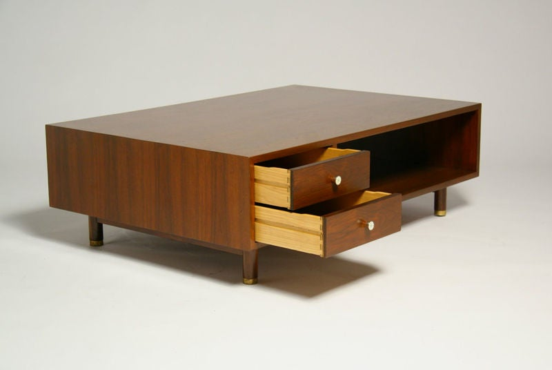 Low Walnut Coffee Table By Edward Wormley For Dunbar At 1stdibs