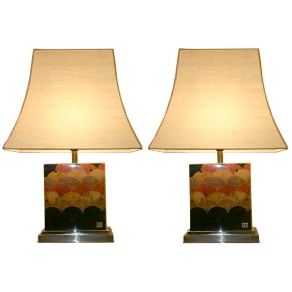 Elegant French Table Lamps By J C Mahey At 1stdibs