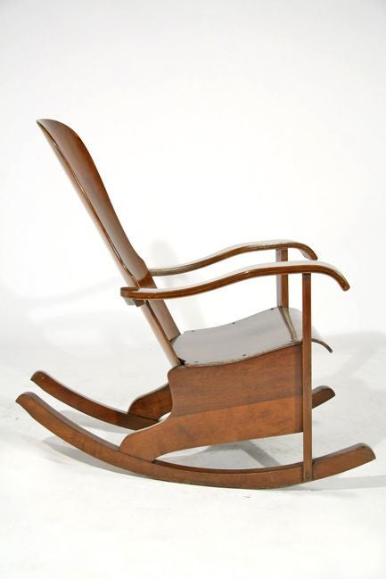 Rocking lounge chair by Cimo Brazil at 1stdibs