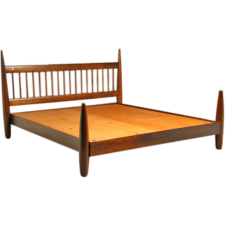 king size exotic wood bed frame by sergio rodrigues at 1stdibs
