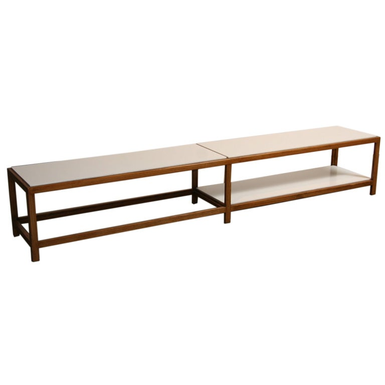 Long walnut and formica inset coffee table by edward wormley at 1stdibs Formica coffee table