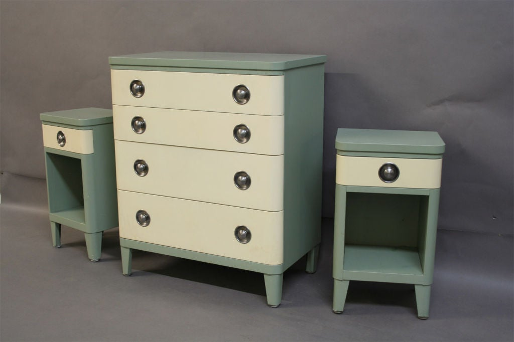 Dresser And Nightstands Norman Bel Geddes For Simmons At