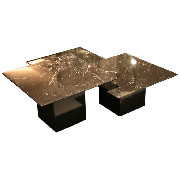 Roche bobois marble coffee table 2separate tables at 1stdibs Roche bobois coffee table