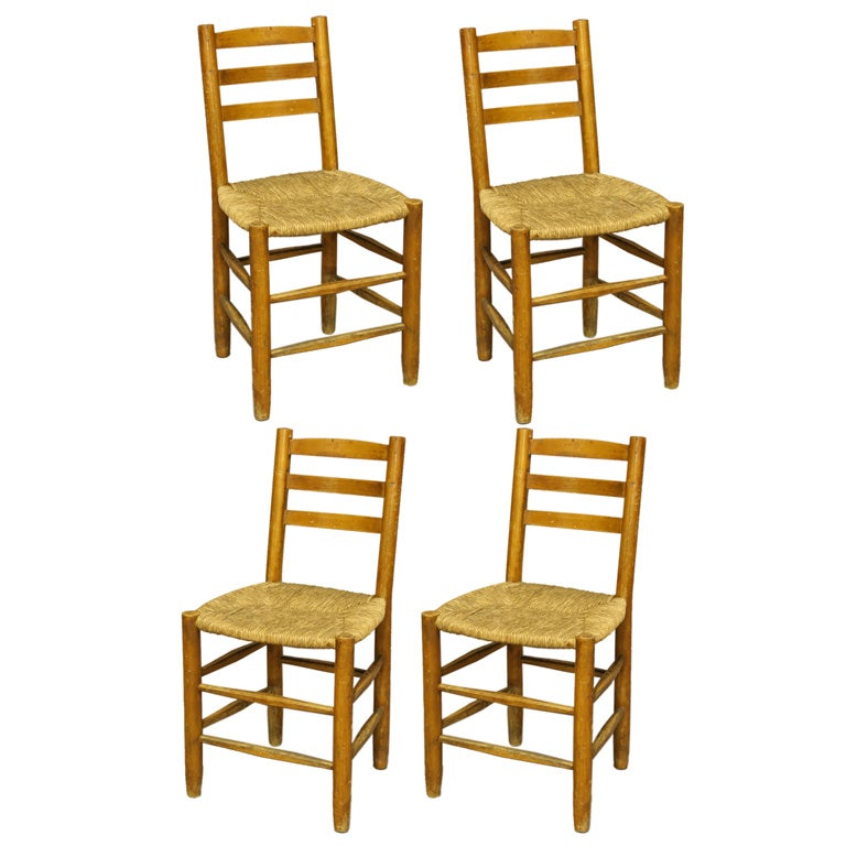 5 dining chairs set of five by charlotte perriand at 1stdibs